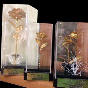 گلدان های طلای کریستال